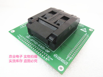 Clamshell IC51-1324-892 QFP132 with PCB 0.635MM IC Burning seat Adapter testing seat Test Socket test bench  in the stock