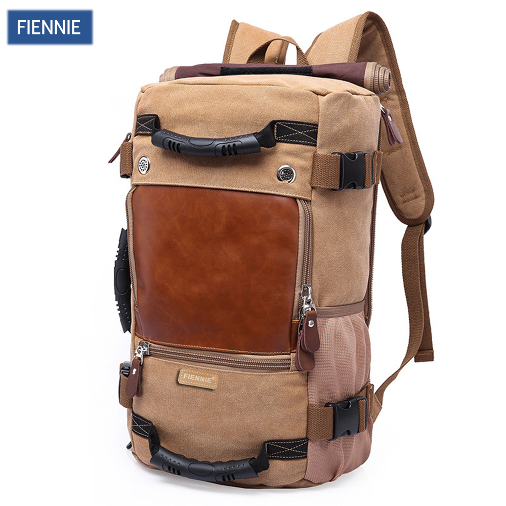 FIENNI Brand Stylish Travel Large Capacity Backpack Male Luggage Shoulder Bag Computer Backpacking Men Functional Versatile Bags kaka brand stylish waterproof large capacity backpack male luggage travel shoulder bag computer backpack men multifunctional bag