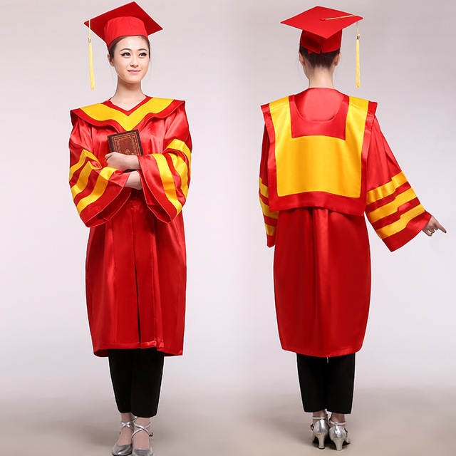 Adult Robes Academic Graduation Gowns Dress for Women School Uniform ...