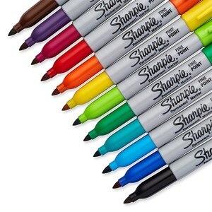 Image 2 - 12/24 farben/box Öl Amerikanischen Sanford Sharpie Permanent Marker, umweltfreundliche Marker Stift, sharpie Fine Point Permanent Marker