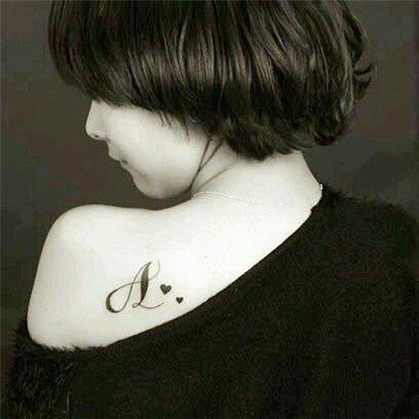 Hc1075 Patron De La Letra Etiqueta Engomada Del Tatuaje Harajuku