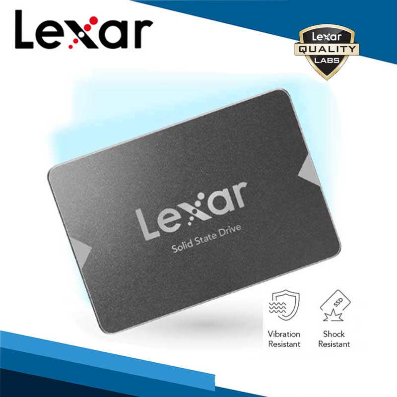 """Lexar 128G 256G 512G NS100 2.5"""" SATA III 6Gb/s Solid State Drive SSD  550MB/s Read Gray For Large Sized Data Photos 4K Video"""