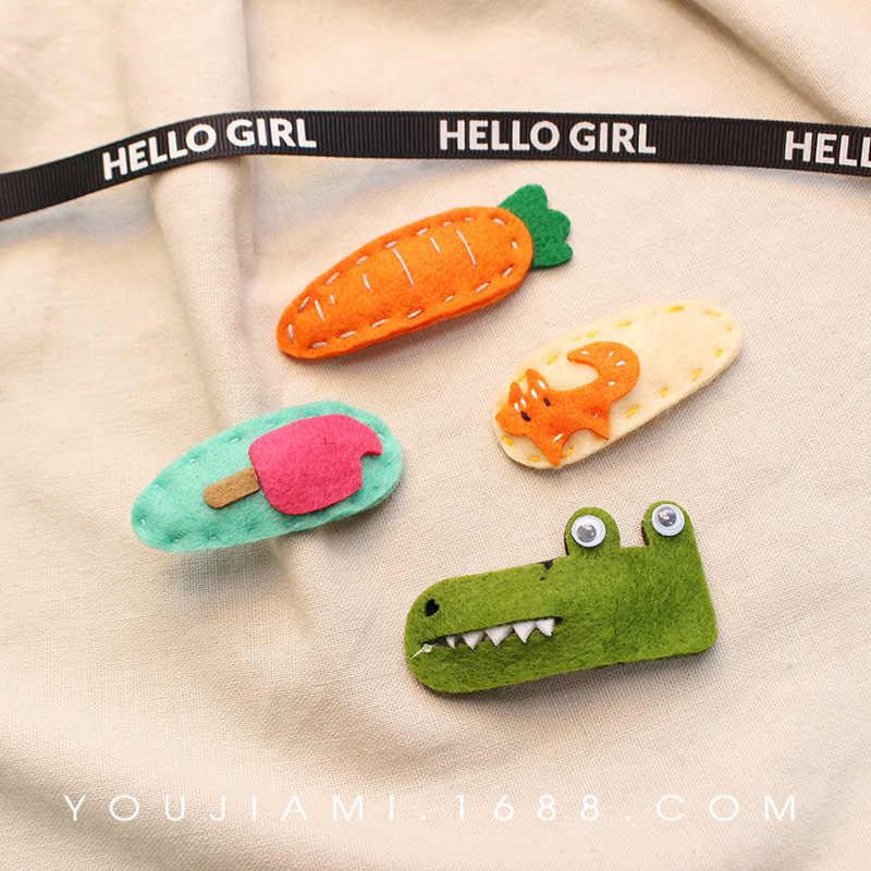 New Little Girl Cute Cartoon Animals Barrettes Kid Headwear Children Hair Clip Good Gifts Hair Accessories Snap Clips Hairpins