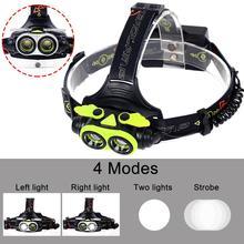 Настоящий SKYWOLFEYE, брендовый светодиодный фонарик, велосипедный фонарик, масштабируемый, 2X T6, светодиодный, 8000 лм, USB, налобный фонарь, 4 режима