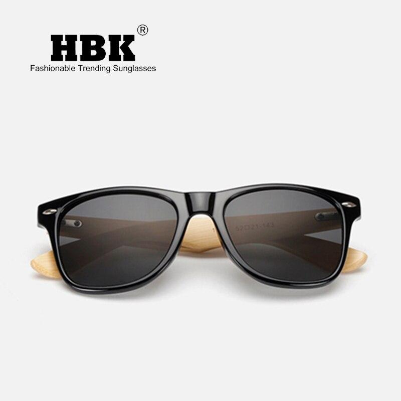 HBK 2018 Sunglasses Handmade Wood moso Bamboo Men Gafas Oculos De Sol Madera Men Sun glasses luxury Goggle UV400 PM0009