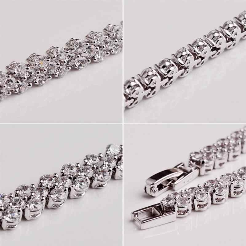 רומי סגנון נובל אישה קריסטל צמיד מתנות תכשיטי טהור ידני מתכוונן צמידי לזוגות יום נישואים מכירה לוהטת