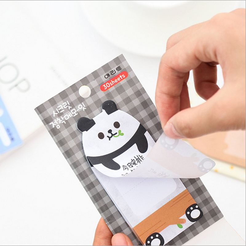 30 Sheets/pack Cute animal Memo Pad weekly plan Sticky Notes Post stationery Kawaii School Supplies Planner Paper Stickers