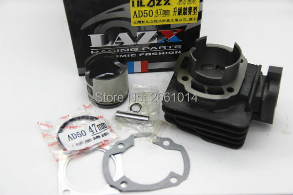 Taiwan LAZX racing motor parts 47mm big bore kit/Cylinder Set For Suzuki TGB Morini AD50 Address 50 AG50 ZZ50 Hyosung SF50