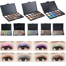 Popfeel 40 Color Eyeshadow Pearl Shimmer Eye Shadow Compact Palettes Earth Warm Luminous Sets Makeup Palette Shadow Cosmetic(China)