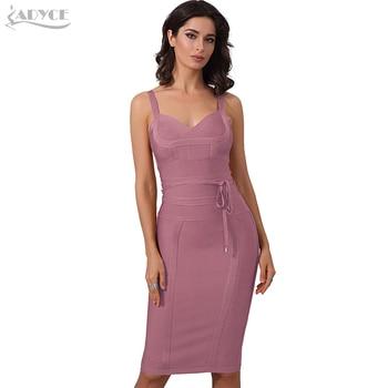 Bandage Dress Sexy Celebrity Party Dress Nightclub Spaghetti Strap Bodycon Dress Vestidos