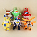 Super Wings Plush Sucker Pendant Dolls Donnie & Mira & Jett & Grand Albert & Paul & Bello Stuffed Sodt Plush Toys Kids Gifts