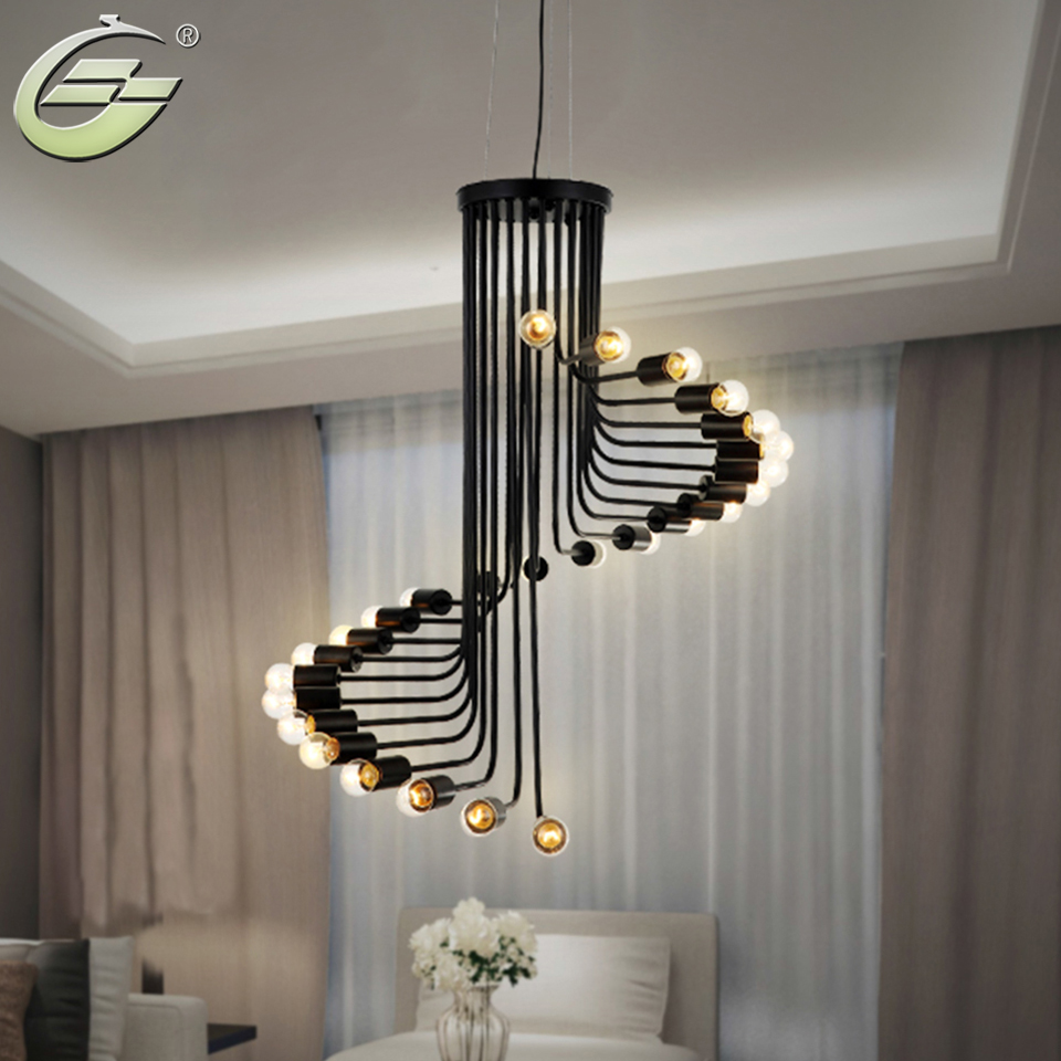 Buy iron rotating pendant light creative for Lights for home decor