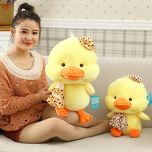 Yellow Duck Doll Fashion Baby Lovely Plush Doll With Hat And Scarf Children Birthday Gift Pelucia Pokemon