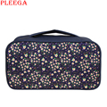 PLEEGA Decorative Pattern Women Cosmetic Bag Necessaire Travel Bra Organizer Bags Trunk Toiletry Kit Zipper Hands Bag Beauty Bag