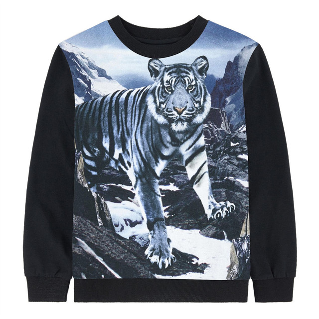 1af5fd71c3e5d boy clothing tees autumn kids tops baby girl brand Long sleeve tops child  White tiger Children clothing kids t shirt children