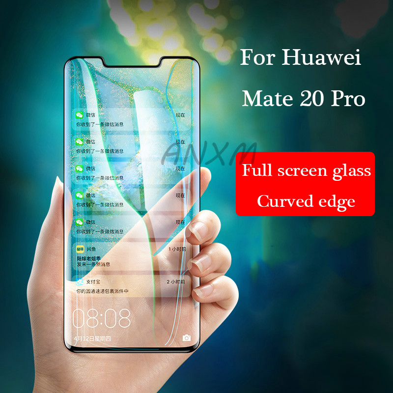 5d Tempered Glass For Huawei Mate 20 Pro Screen Protector Anti Blue-ray Full Cover Glass For Huawei Mate 20 Pro Protective Film Meticulous Dyeing Processes Mobile Phone Accessories