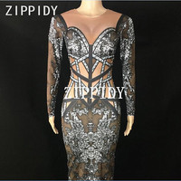 Women's Prom Birthday Celebrate Dresses Fashion Dyeing Black Dress Rhinestones Big Stretch One piece Long Dress Evening Wear