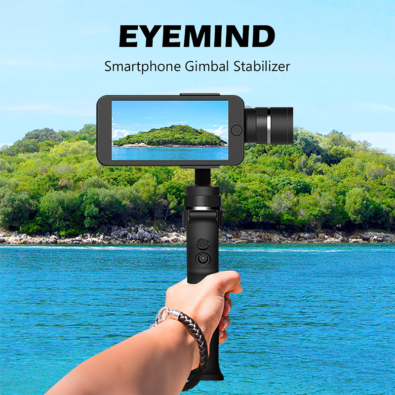 Universal 3-Axis Handheld Mobile Phone Gimbal Stabilizer Video Camera Anti-shake Handheld 360 Degree Roting Smart Stabilizer xjjj jj 2 3 axis brushless handheld gimbal stabilizer 360 degree shooting fitting smart phone