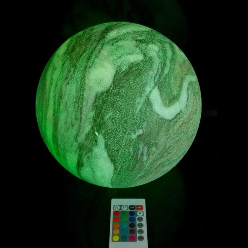 2019 Nieuwe Stijl D25cm Bar/home/office Meubels Waterdichte Led Multi Color Change Globle Draadloze Led Licht Gloeiende Mars Bal Gratis Verzending 1 Pc Gemakkelijk Te Repareren