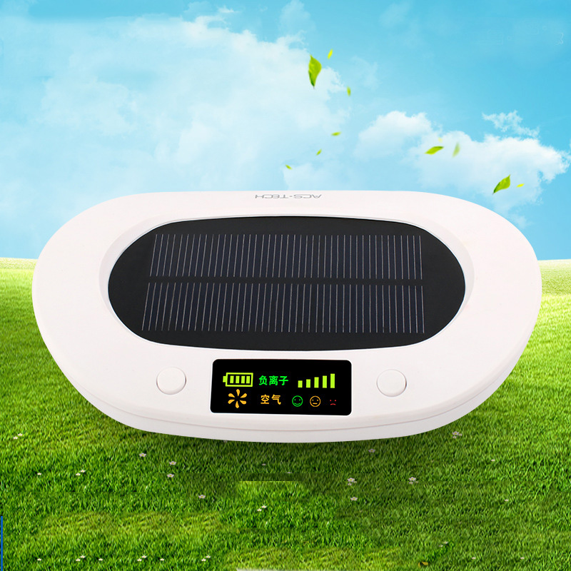 AS-1 Car Purifier Solar Air Cleaner Aromatherapy oxygen bar anion For Car /Home/ Office Air Purifier 4 Colors free shipping industrial electric instrument high anion car office toilet air purifier watered based from ohmeka