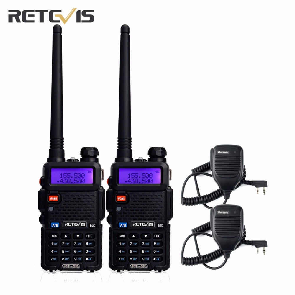 bilder für 2 Stücke Durable 5 Watt Talkie Walkie Retevis RT-5R + 2X Lautsprecher Mic VHF/UHF Handfunkgerät Hf Transceiver Amateur Zweiwegradio Moskau