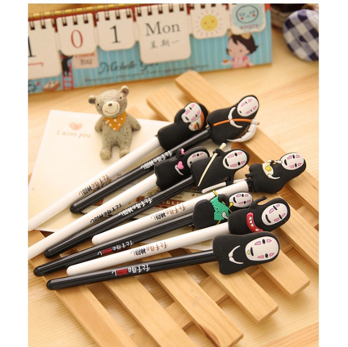Image 4 - QSHOIC  25 PCS/lot South Korea stationery hayao miyazaki cartoon pen Spirited away ghost pen creative men without a cartoon faceghost pencartoon penspirited away pen -