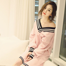 46920c9afb 2018 summer white sexy sleepwear female and bf nightgown long sleeve shirt  100% medium long