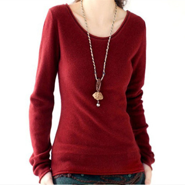 Autumn Winter Cashmere Sweaters Knitted Women O-Neck Flare Sleeve Pullovers Soft and Comfortable Casual Style Fashion 4 Colors