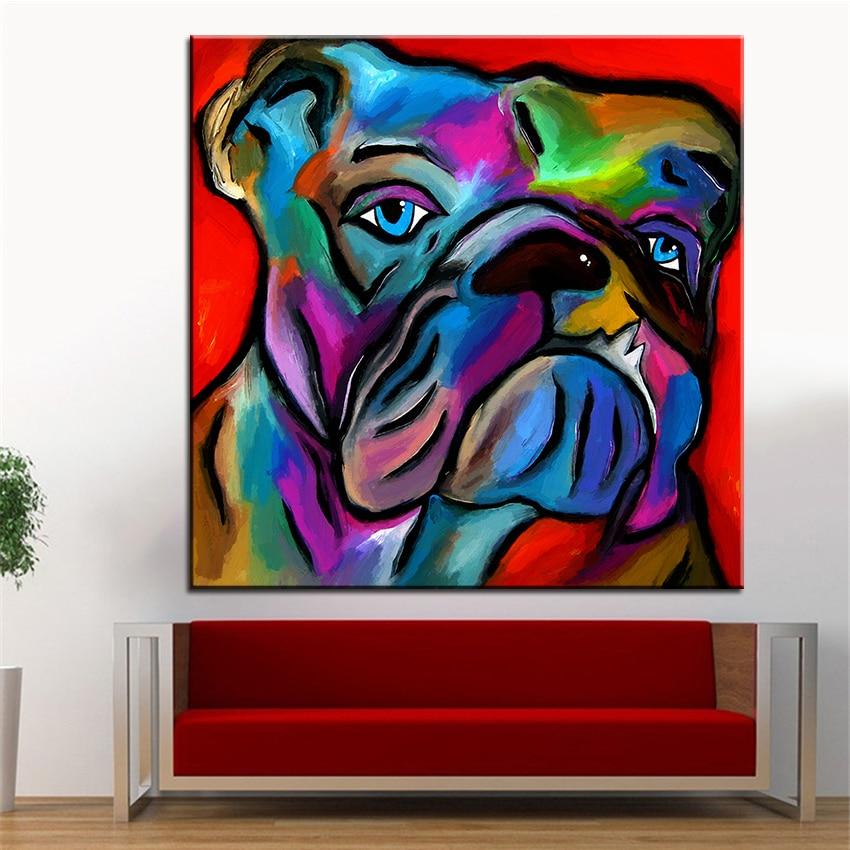 Velike veličine tiskanje ulje na platnu zidno slikarstvo taj bik pas - Kućni dekor