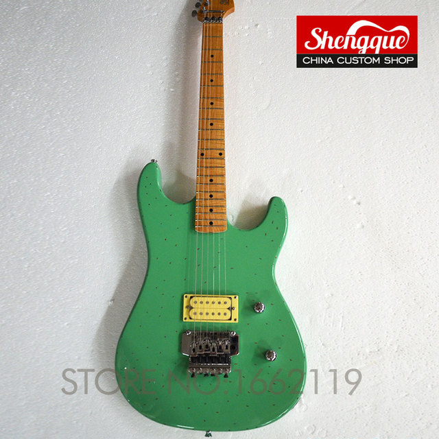 buy factory custom green st guitar picture real shot electric guitars musical. Black Bedroom Furniture Sets. Home Design Ideas