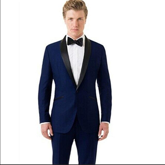 Aliexpress.com : Buy modern slim fit suit men wedding tuxedo blue ...
