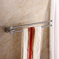 Bathroom accessories High quality chrome plating Movable brass bath towel holder Towel bar Bathroom towel rack Bathroom shelf