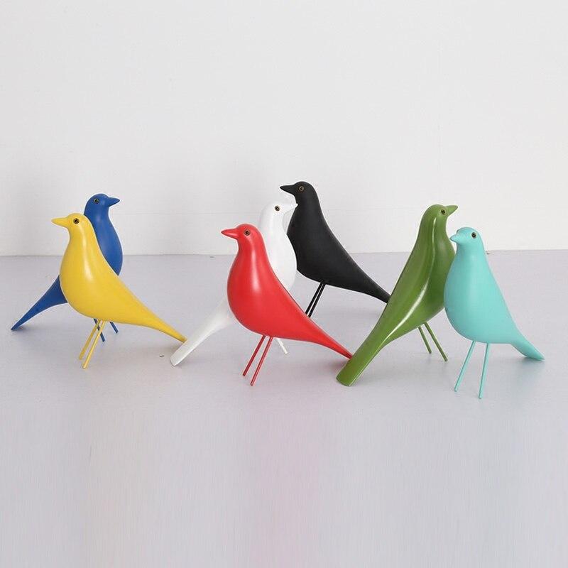 Bonne qualité livraison gratuite Express 1 PC maison oiseau designer oiseau meubles décorations mode résine maison oiseau