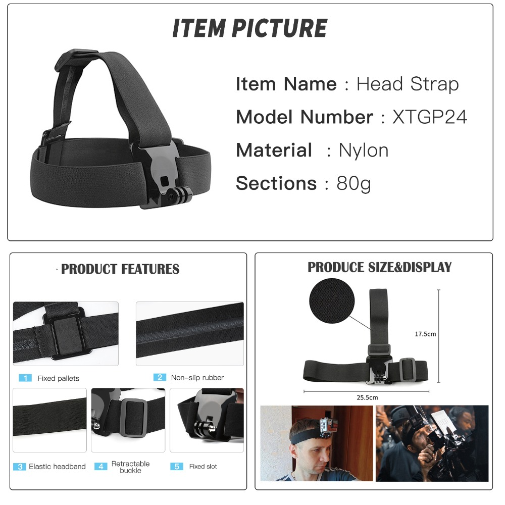 Image 3 - SHOOT Tripod Holder Monopod Strap Accessory for GoPro Hero 8 7 5 Black Xiaomi Yi 4K Sjcam M10 Dji Osmo H9 Go Pro 7 Action Camera-in Sports Camcorder Cases from Consumer Electronics
