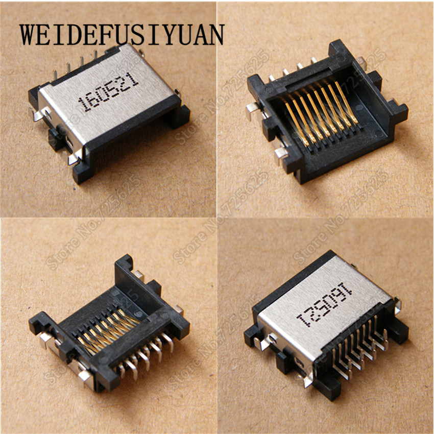 10PCS New Laptop LAN Jack Ethernet Port for Dell Vostro 5460 5470 5480 5560 3442 3446 3541 RJ45 Socket Connector the new for dell vostro 5460 v5460 5470 p41g aejw8 laptop keyboard