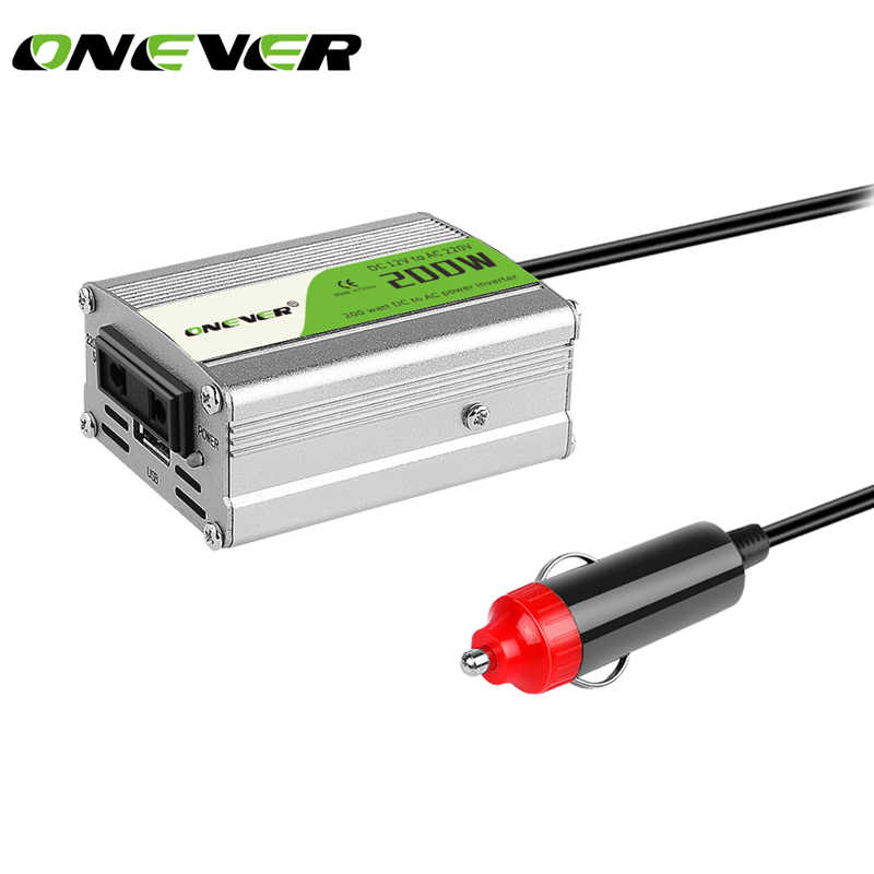1pcs 200W Car Power Inverter Converter DC 12V to AC 220V Modified Sine Wave Power with USB 5V Output  car styling&car charger