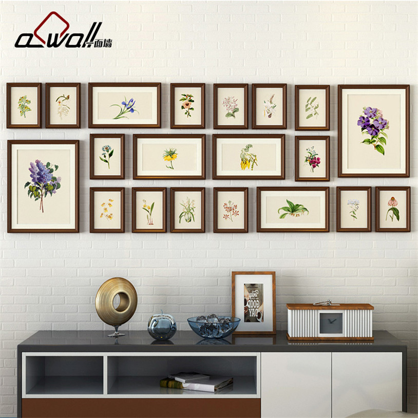 Wood Photo Frames Collage Picture Frame Photo Frames Wall Set ...
