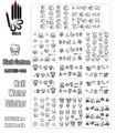11 Листов/Серия Ногтей Тату BJC155-165 Черный Hello Kitty Мультфильм Ногтей искусство Стикер Воды Этикета для Украшения Ногтей (11 КОНСТРУКЦИЙ В 1)