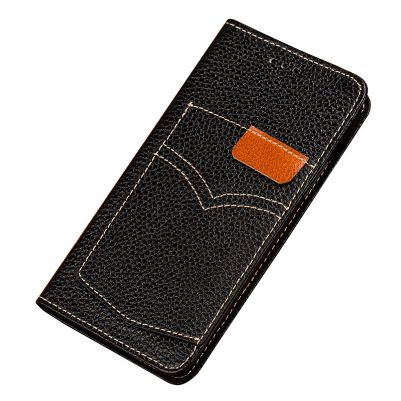 Flip Phone Cases For iPhone 6 7 8 Plus X Xs Max Case Cowhide Card Slot Back Cover For iPhone 6 6S plus 6p 7p 8p Wallet case in Flip Cases from Cellphones Telecommunications