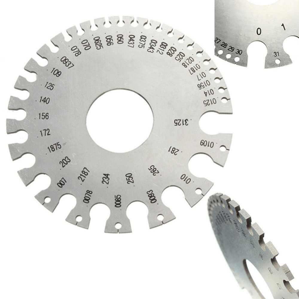 Steel Round SWG Wire Thickness Measurer Tester Ruler Gauge Diameter Tool *US
