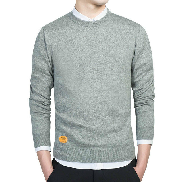 Mens Cotton Sweater Pullovers O-neck M-3xl New