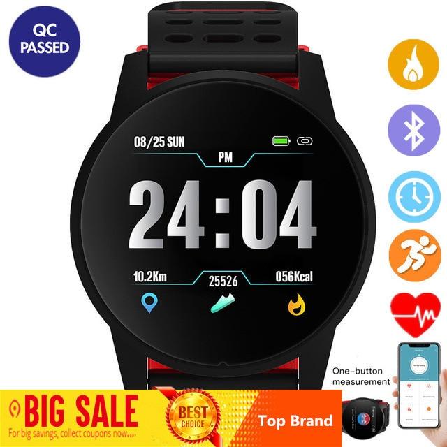Reloj inteligente Deportivo Superior para hombres y mujeres Monitor de ritmo cardíaco de presión arterial rastreador de Fitness reloj deportivo GPS para Android Ios