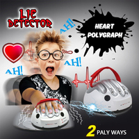 Tik Tok Polygraph Test Funny Adjustable Micro Electric Shock Lie Detector Tricky Game Party Decompression Fun Creative Toys