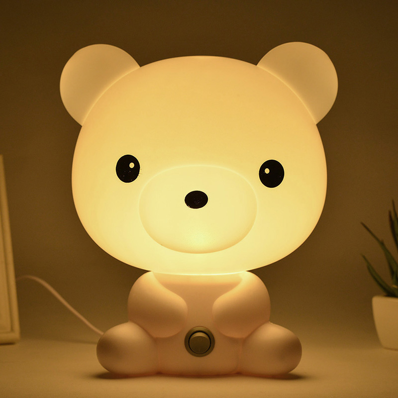 EU/Us-stecker Nacht Schöne Schlaf Lampe Baby Zimmer Panda/Kaninchen/Hund/Bär Cartoon Licht Kinder bett Baby Zimmer für Geschenke CLH