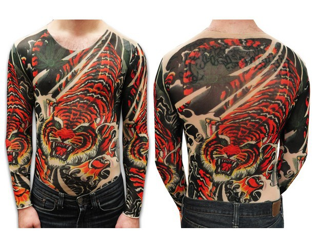 Long Sleeve Tattoo Sleeve For Black Men: Free Shipping 2017 New Fashion Summer Unisex Vicious Tiger