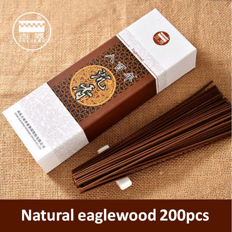 1 boîte (200 bâtonnets) naturel eaglewood encens chambre Yoga fumée bâtons d'encens brûleur d'encens brûlant 45 minutes 320g