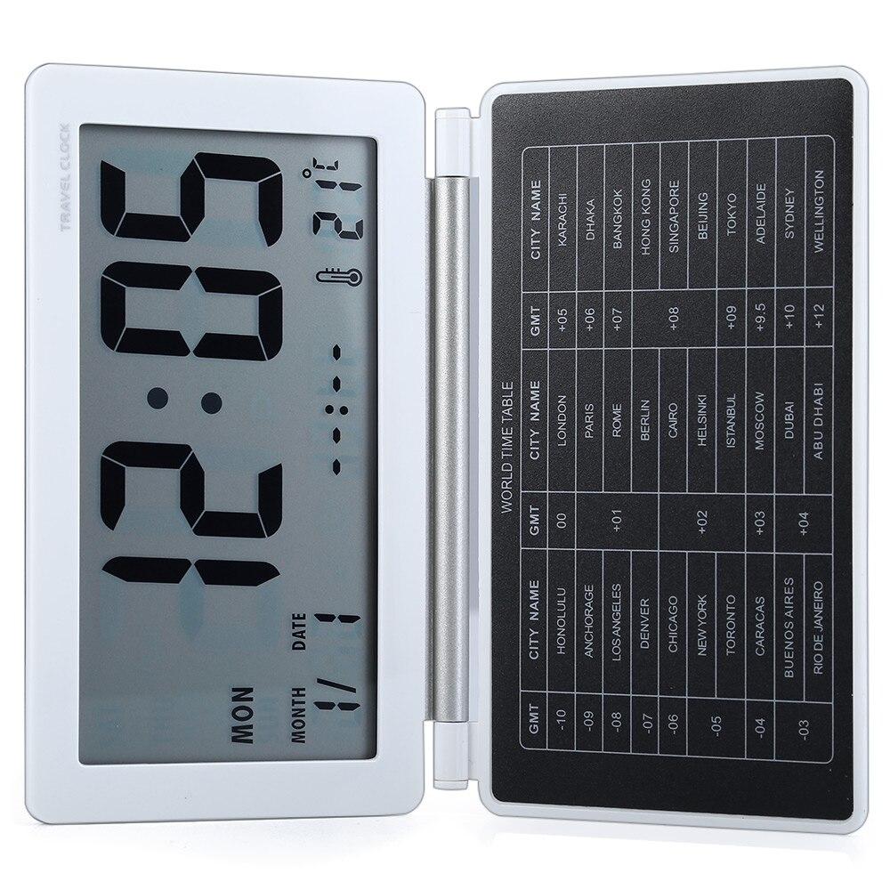 ЖК-дисплей Дисплей бюро путешествий будильник время календарь термометр Повтор Функция часы