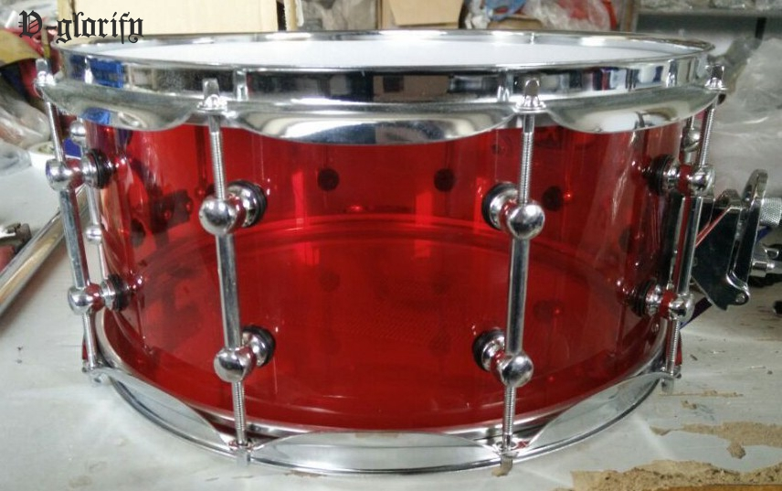 arylic snare drum 14*6.5inch evans tt14g2 14 g2 clear snare tom timbale