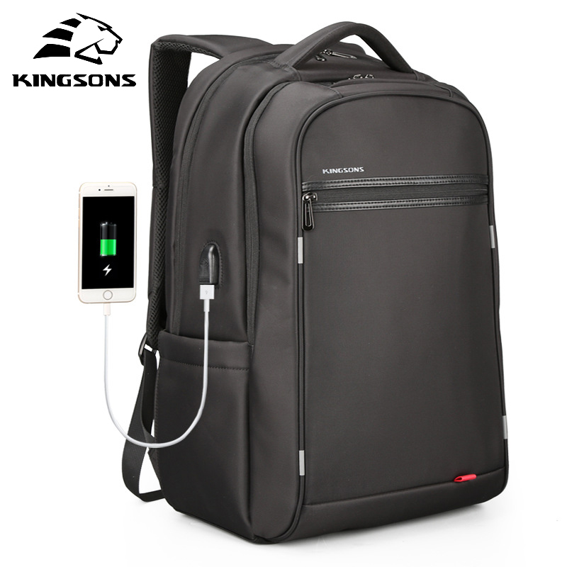 Kingsons3182W Fashion Multifunction College Mens Backpack Bag Large Capacity USB Recharging Student Notebook Backpack For TravelKingsons3182W Fashion Multifunction College Mens Backpack Bag Large Capacity USB Recharging Student Notebook Backpack For Travel