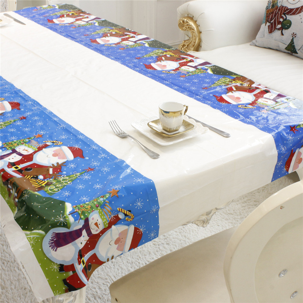 Disposable Christmas Tablecloth Table Cloth Theme Kids Birthday ...